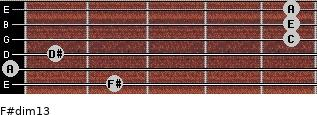 F#dim13 for guitar on frets 2, 0, 1, 5, 5, 5
