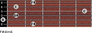 F#dim/6 for guitar on frets 2, 0, 1, 5, 1, 2