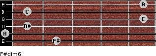 F#dim6 for guitar on frets 2, 0, 1, 5, 1, 5