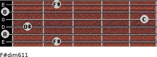 F#dim6/11 for guitar on frets 2, 0, 1, 5, 0, 2