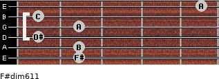 F#dim6/11 for guitar on frets 2, 2, 1, 2, 1, 5