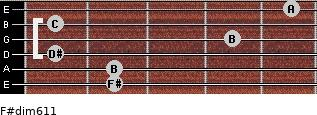 F#dim6/11 for guitar on frets 2, 2, 1, 4, 1, 5
