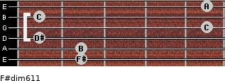 F#dim6/11 for guitar on frets 2, 2, 1, 5, 1, 5