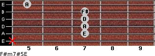 F#m7#5/E for guitar on frets x, 7, 7, 7, 7, 5