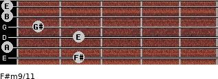 F#m9/11 for guitar on frets 2, 0, 2, 1, 0, 0