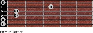 F#m9/13#5/E for guitar on frets 0, 0, 1, 1, 3, 0
