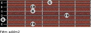 F#m add(m2) for guitar on frets 2, 0, 4, 2, 2, 3