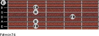 F#min7/4 for guitar on frets 2, 2, 4, 2, 2, 0