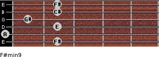 F#min9 for guitar on frets 2, 0, 2, 1, 2, 2