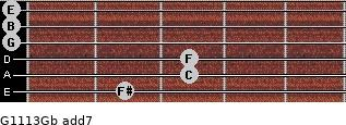 G11/13/Gb add(7) guitar chord