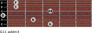 G11 add(m3) for guitar on frets 3, 2, 0, 3, 1, 1