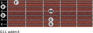 G11 add(m3) for guitar on frets 3, 3, 0, 3, 0, 1