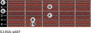 G13/Gb add(7) guitar chord