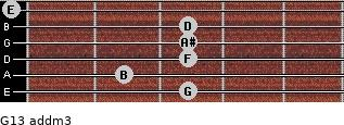 G13 add(m3) for guitar on frets 3, 2, 3, 3, 3, 0