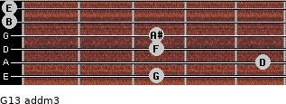 G13 add(m3) for guitar on frets 3, 5, 3, 3, 0, 0