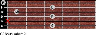 G13sus add(m2) guitar chord