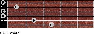 G6/11 for guitar on frets 3, 2, 0, 0, 1, 0