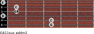 G6/11sus add(m2) guitar chord