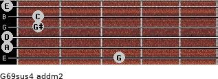 G6/9sus4 add(m2) guitar chord