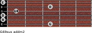 G6/9sus add(m2) guitar chord