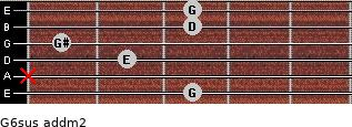 G6sus add(m2) guitar chord
