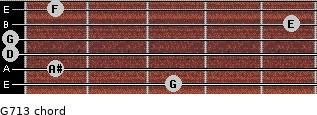 G-7/13 for guitar on frets 3, 1, 0, 0, 5, 1