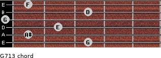 G-7/13 for guitar on frets 3, 1, 2, 0, 3, 1