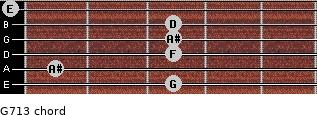 G-7/13 for guitar on frets 3, 1, 3, 3, 3, 0