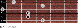 G7/13 for guitar on frets 3, 2, 2, 0, 3, 1