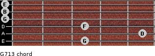 G7/13 for guitar on frets 3, 5, 3, 0, 0, 0