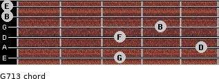 G7/13 for guitar on frets 3, 5, 3, 4, 0, 0