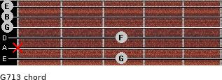 G7/13 for guitar on frets 3, x, 3, 0, 0, 0