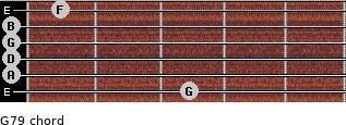 G7/9 for guitar on frets 3, 0, 0, 0, 0, 1