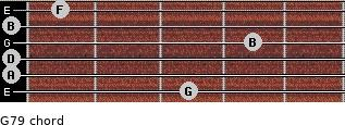 G7/9 for guitar on frets 3, 0, 0, 4, 0, 1