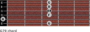 G-7/9 for guitar on frets 3, 0, 3, 3, 3, 3