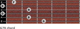 G7/9 for guitar on frets 3, 2, 0, 2, 0, 1