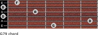 G7/9 for guitar on frets 3, 5, 0, 2, 0, 1