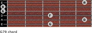 G7/9 for guitar on frets 3, 5, 3, 0, 0, 5