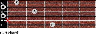 G7/9 for guitar on frets 3, x, 0, 2, 0, 1