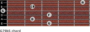 G7/9(b5) for guitar on frets 3, 2, 3, 0, 2, 5