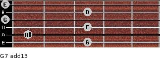 G-7(add13) for guitar on frets 3, 1, 3, 0, 3, 0