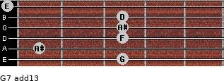 G-7(add13) for guitar on frets 3, 1, 3, 3, 3, 0