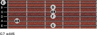 G-7(add6) for guitar on frets 3, 1, 3, 3, 3, 0
