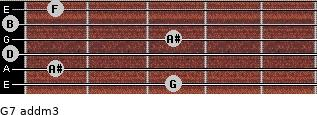G7 add(m3) for guitar on frets 3, 1, 0, 3, 0, 1