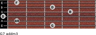 G7 add(m3) for guitar on frets 3, 1, 0, 4, 3, 1