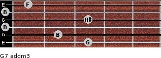 G7 add(m3) for guitar on frets 3, 2, 0, 3, 0, 1