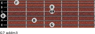 G7 add(m3) for guitar on frets 3, 2, 0, 3, 3, 1