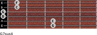 G7sus4 for guitar on frets 3, 3, 0, 0, 1, 1
