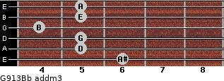 G9/13/Bb add(m3) guitar chord