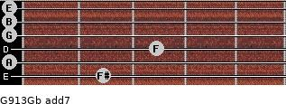 G9/13/Gb add(7) guitar chord